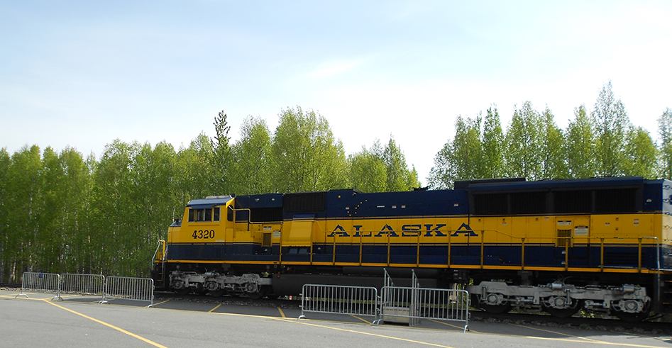 Alaska Railroad at Talkeetna for day trips from your honeymoon cabin.
